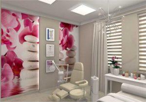 Projekt gabinetu kosmetycznego Yasumi - CamiDecor